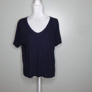 everlane women black cotton shirt SZ L